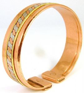 M34: Magnetic Three Colour Copper Band Bracelet